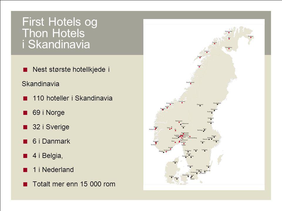 First Hotels og Thon Hotels i Skandinavia