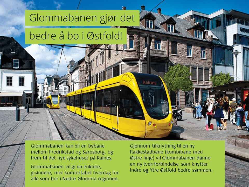 Glommabanen kan bli en bybane mellom Fredrikstad og Sarpsborg, og frem til det nye sykehuset på Kalnes.