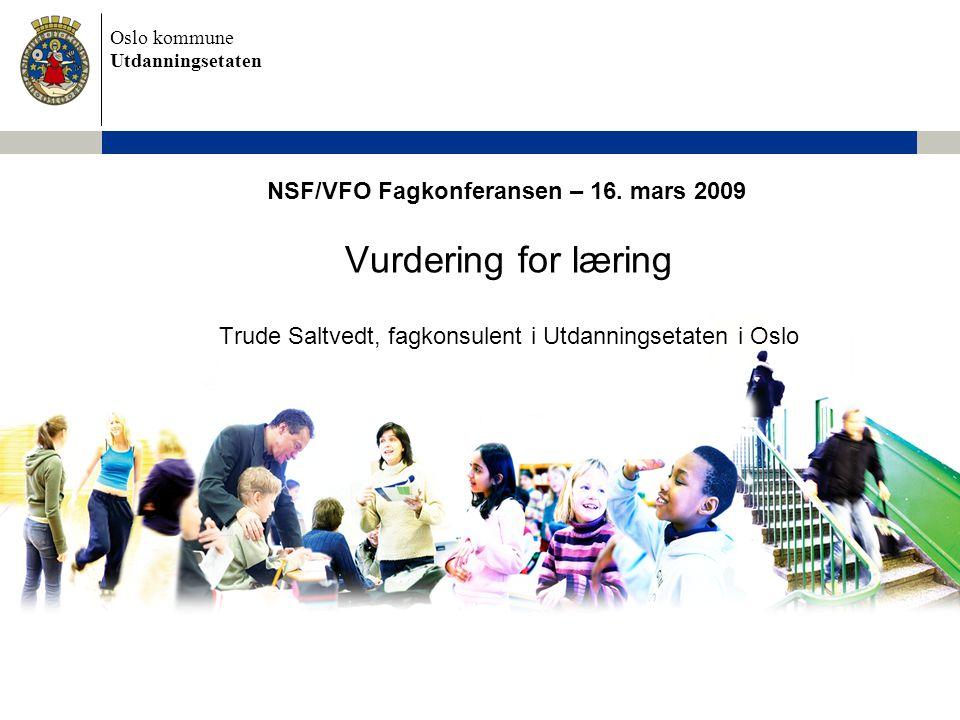 NSF/VFO Fagkonferansen – 16. mars 2009