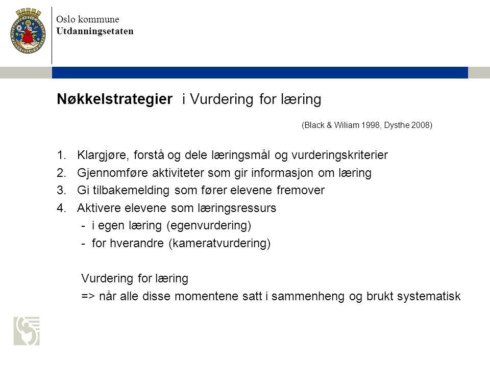 Nøkkelstrategier i Vurdering for læring