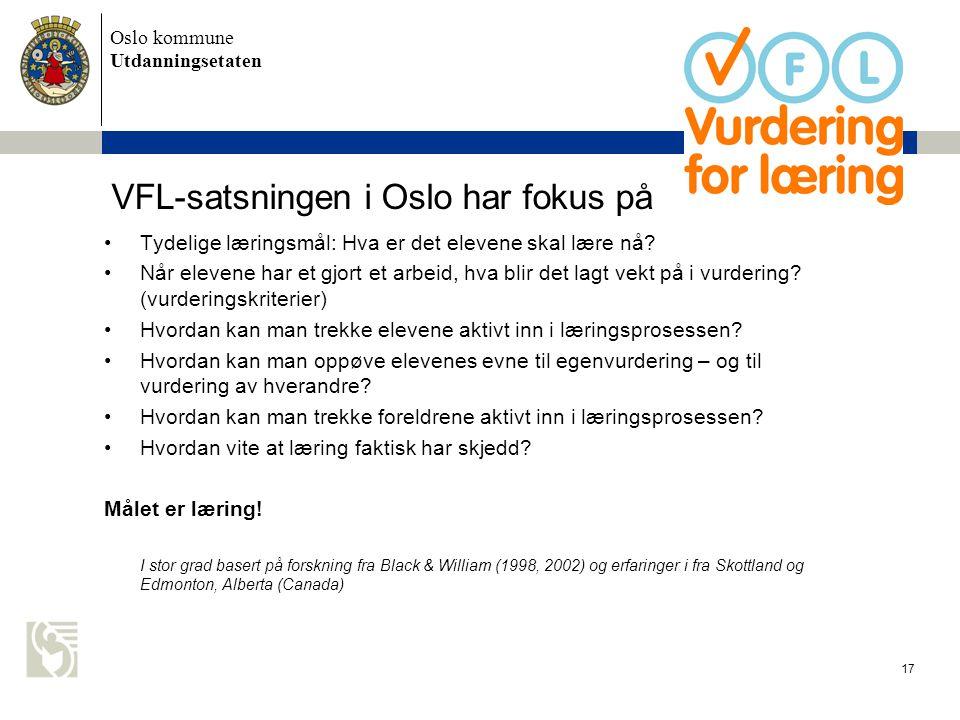 VFL-satsningen i Oslo har fokus på