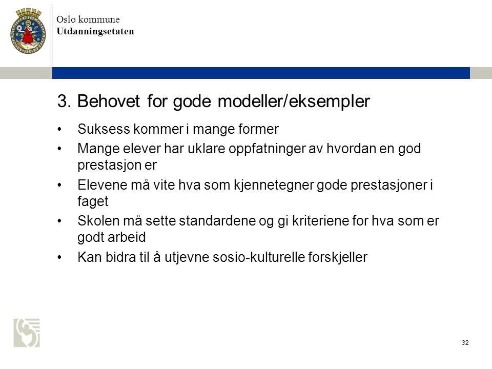 3. Behovet for gode modeller/eksempler