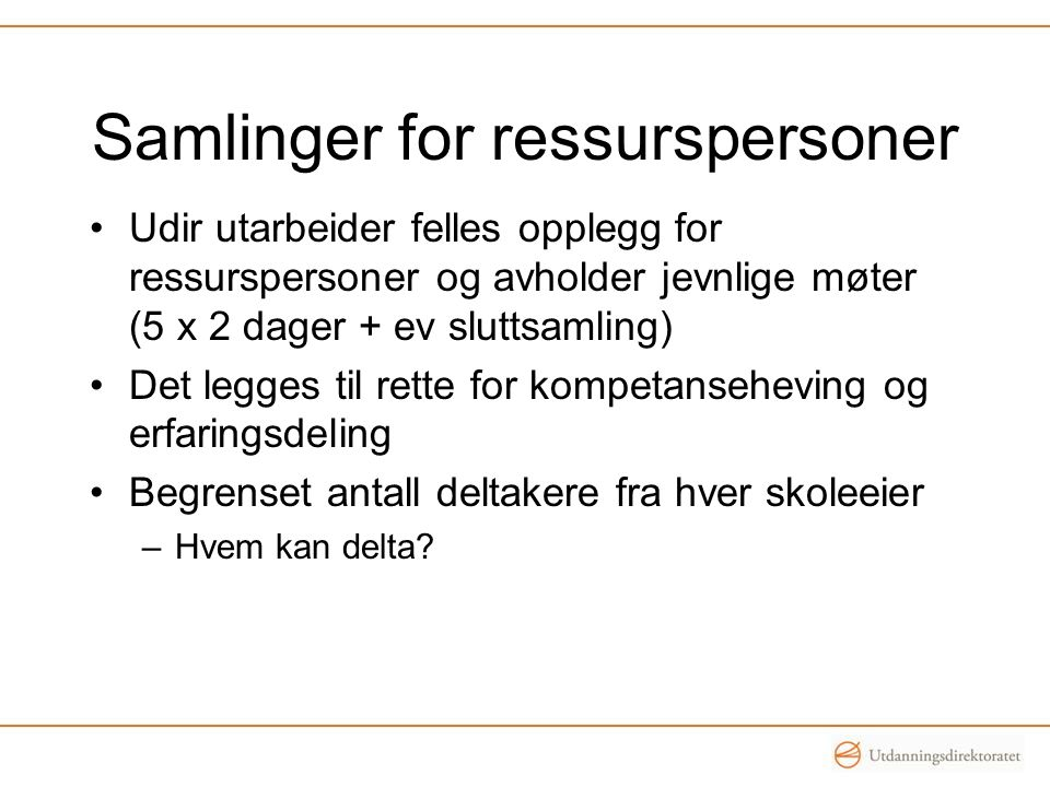 Samlinger for ressurspersoner