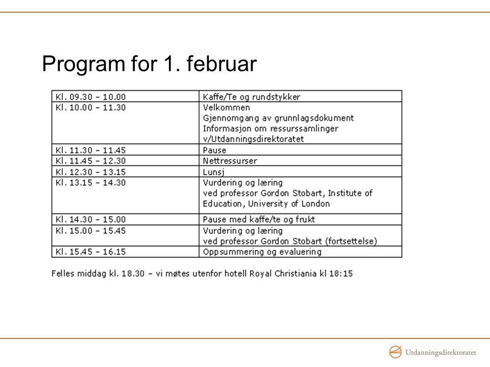 Program for 1. februar