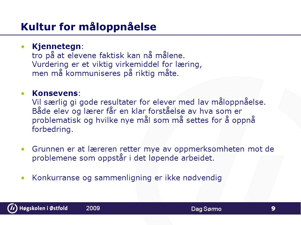 Kultur for måloppnåelse