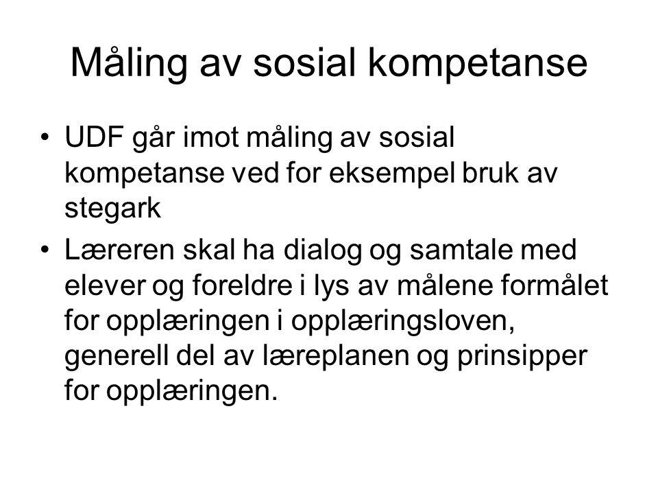 Måling av sosial kompetanse