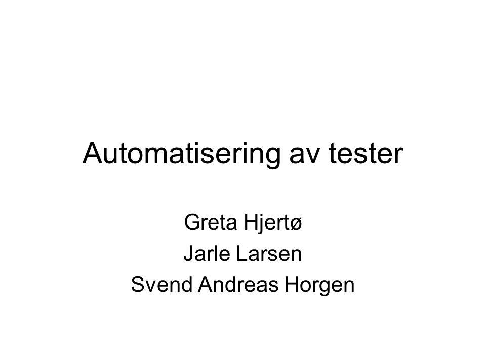 Automatisering av tester