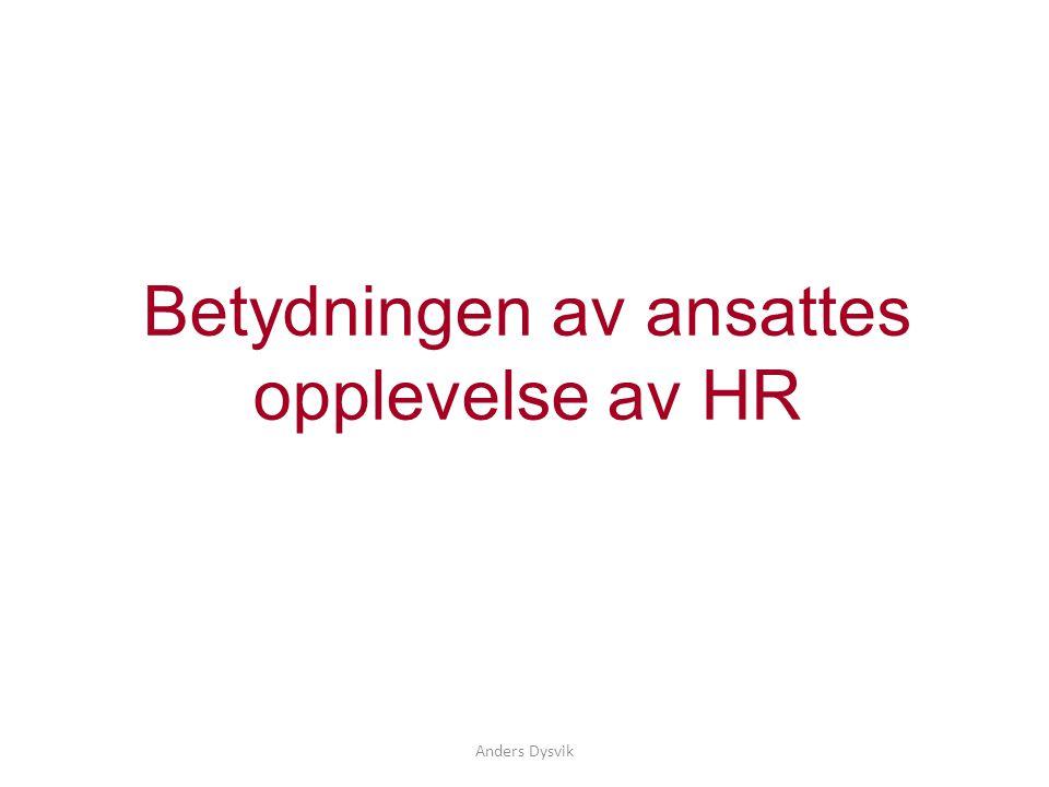 Betydningen av ansattes opplevelse av HR