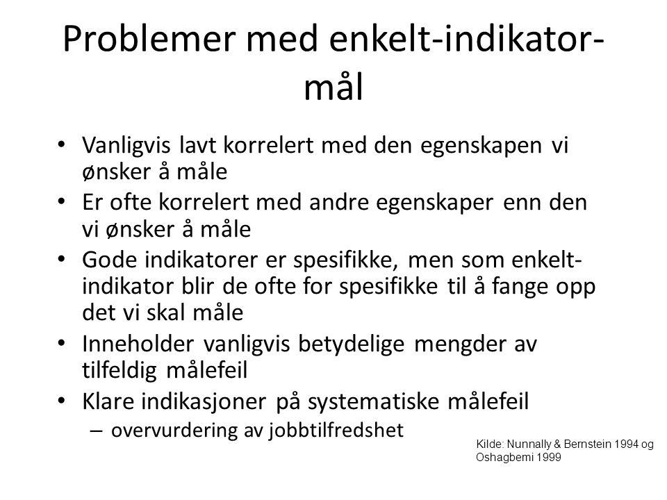 Problemer med enkelt-indikator-mål