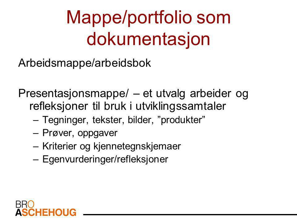 Mappe/portfolio som dokumentasjon