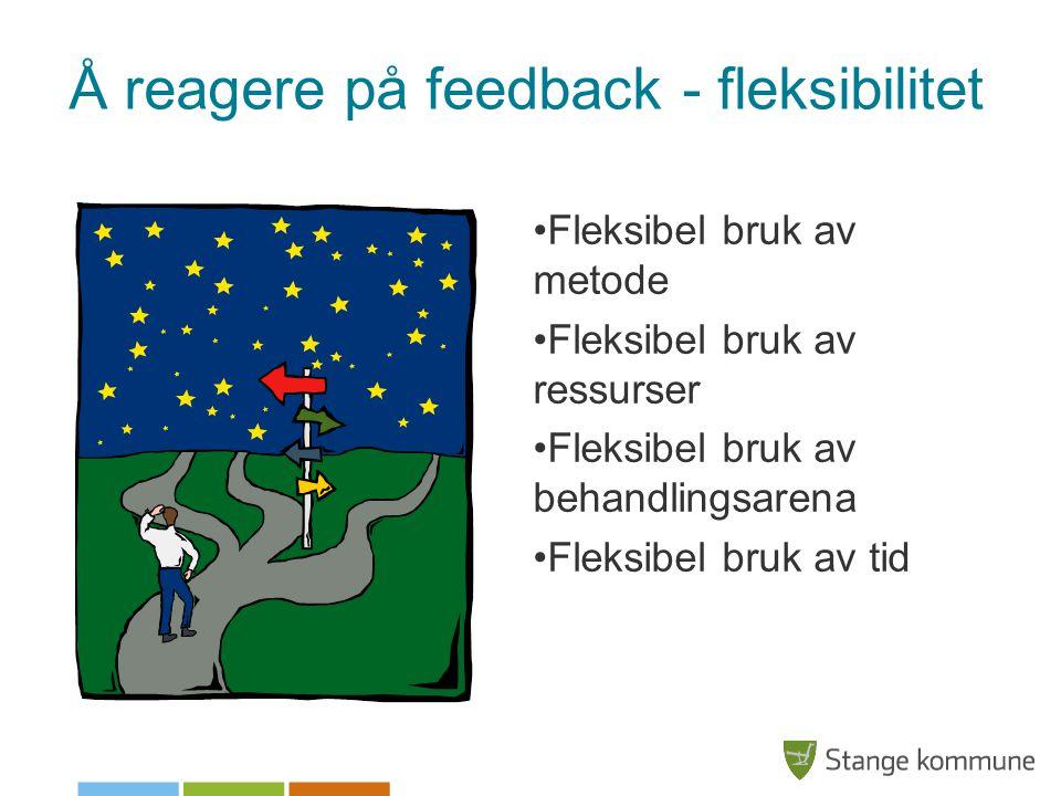 Å reagere på feedback - fleksibilitet