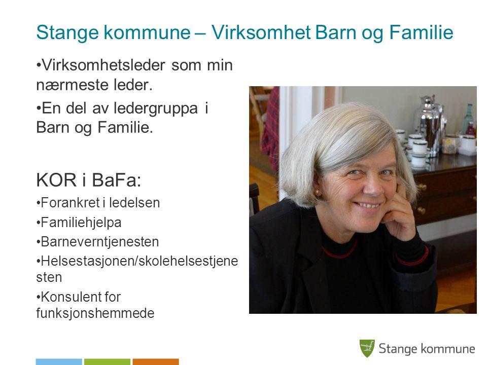 Stange kommune – Virksomhet Barn og Familie