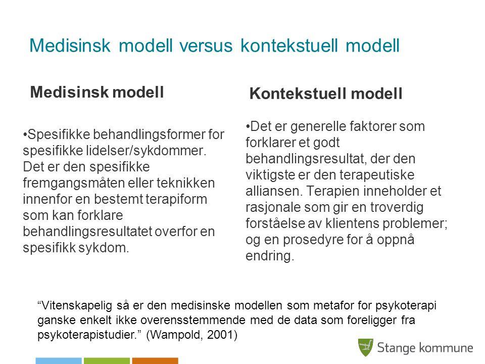 Medisinsk modell versus kontekstuell modell