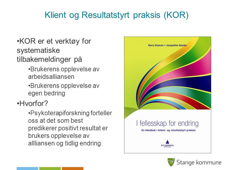Klient og Resultatstyrt praksis (KOR)