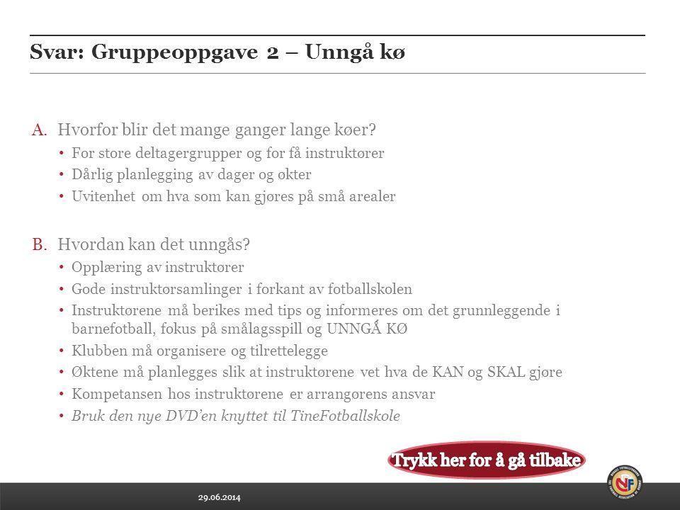 Svar: Gruppeoppgave 2 – Unngå kø