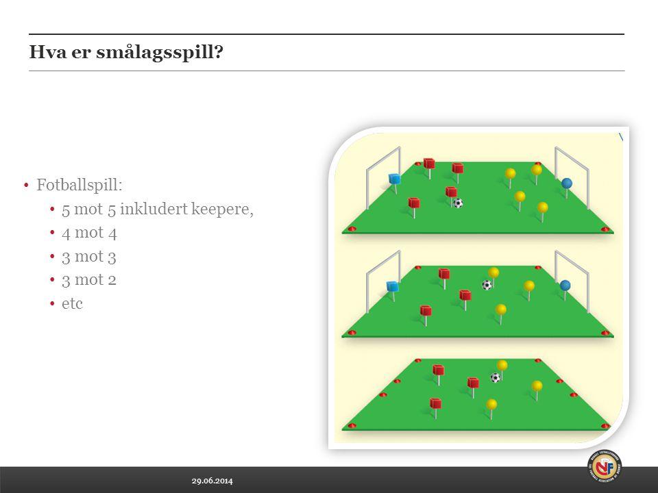 Hva er smålagsspill Fotballspill: 5 mot 5 inkludert keepere, 4 mot 4