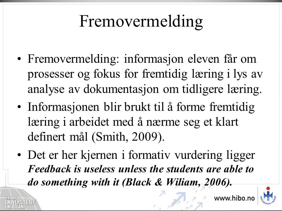 Fremovermelding