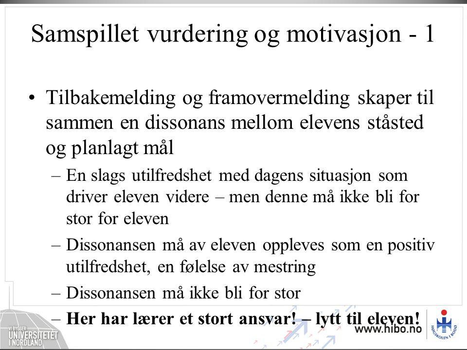 Samspillet vurdering og motivasjon - 1
