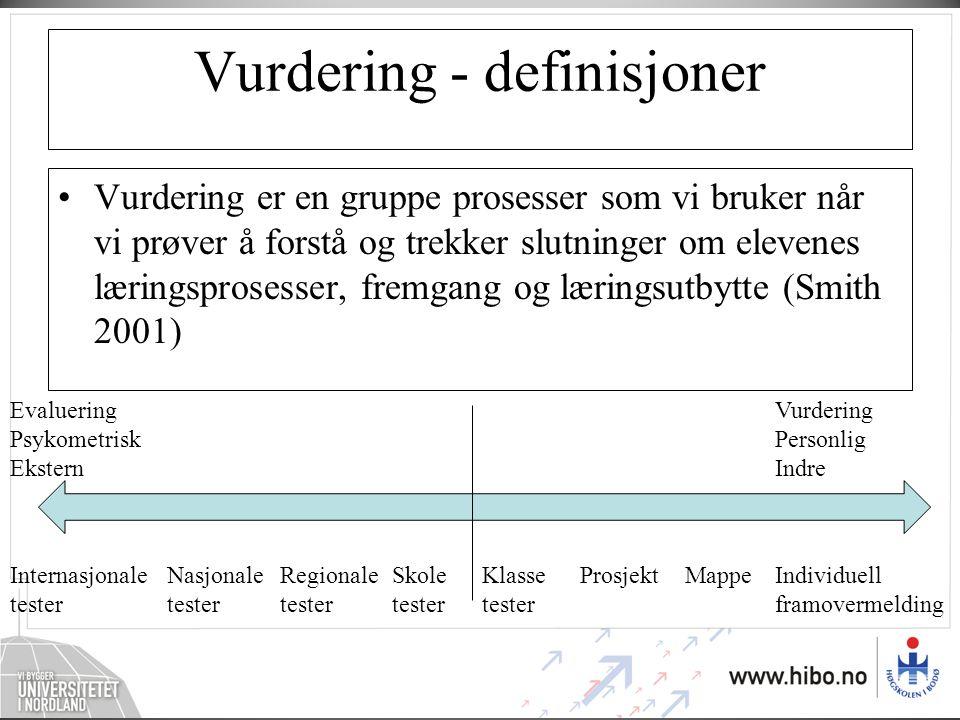 Vurdering - definisjoner