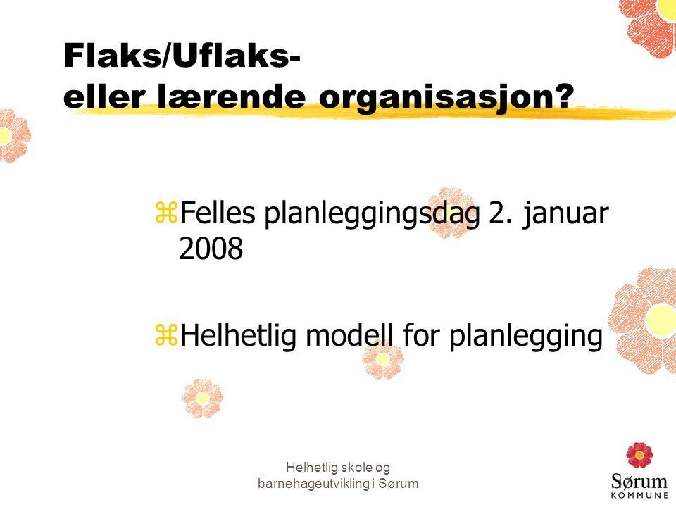 Flaks/Uflaks- eller lærende organisasjon