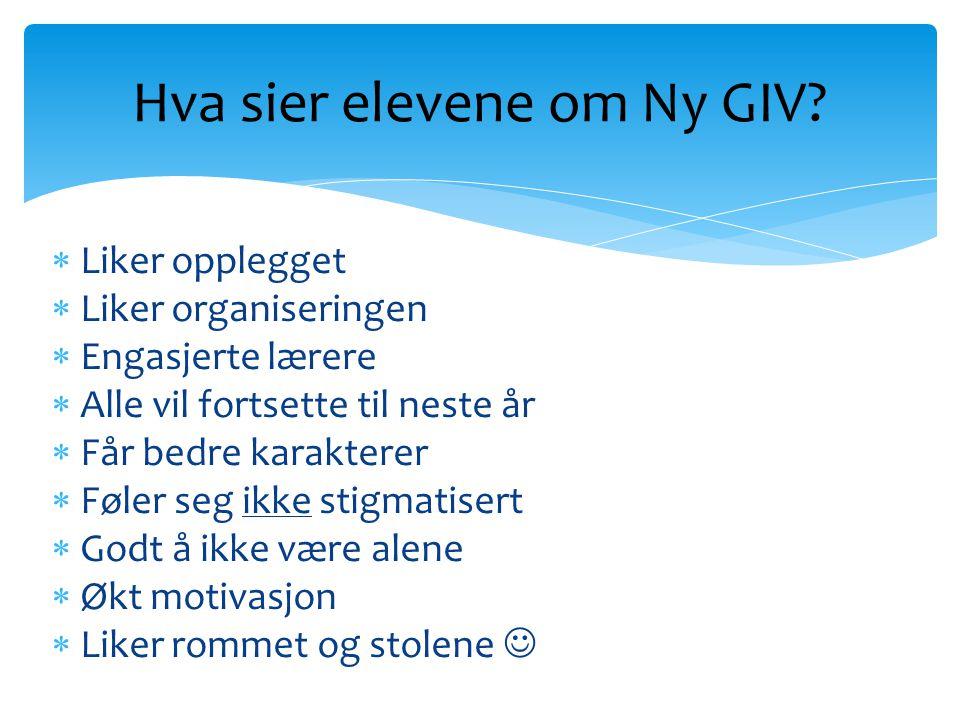 Hva sier elevene om Ny GIV