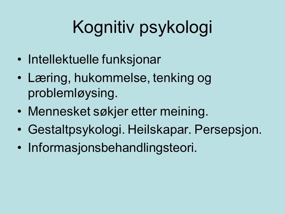 Kognitiv psykologi Intellektuelle funksjonar