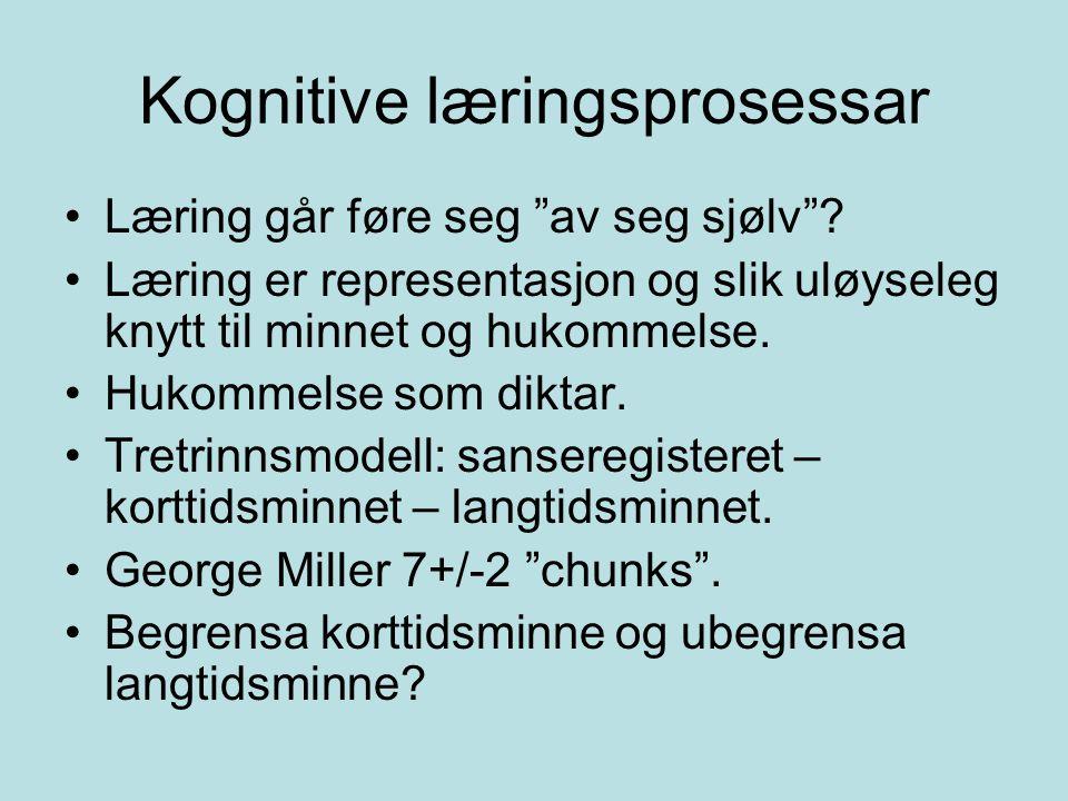 Kognitive læringsprosessar