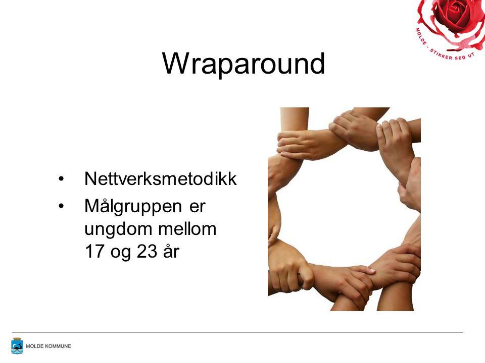 Wraparound Nettverksmetodikk Målgruppen er ungdom mellom 17 og 23 år