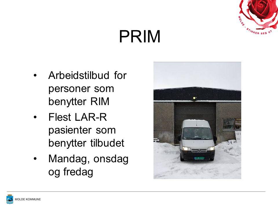 PRIM Arbeidstilbud for personer som benytter RIM