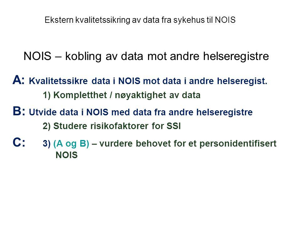 NOIS – kobling av data mot andre helseregistre
