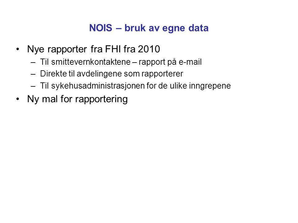 Nye rapporter fra FHI fra 2010