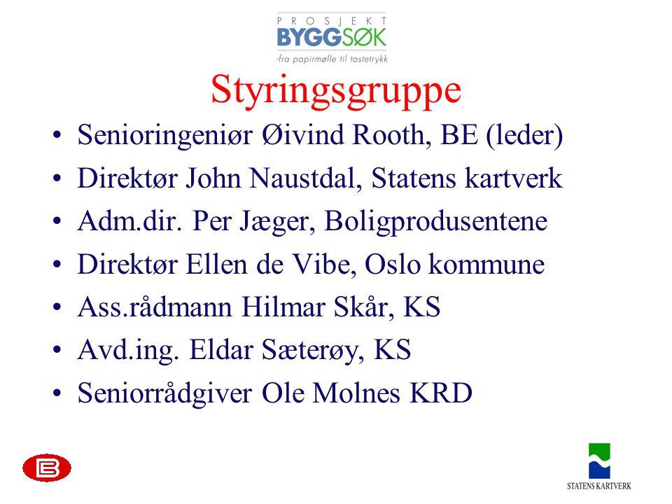Styringsgruppe Senioringeniør Øivind Rooth, BE (leder)