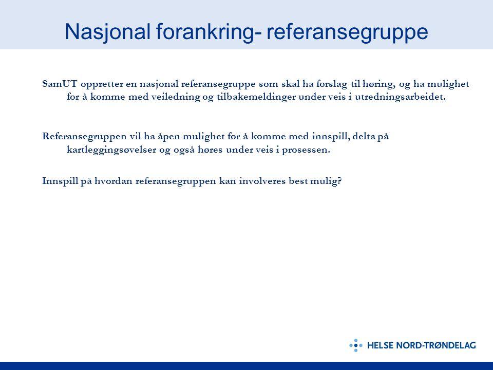 Nasjonal forankring- referansegruppe