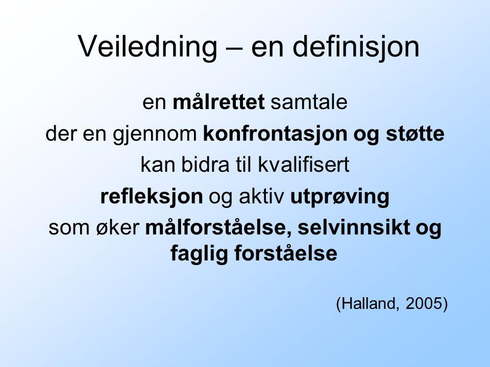 Veiledning – en definisjon