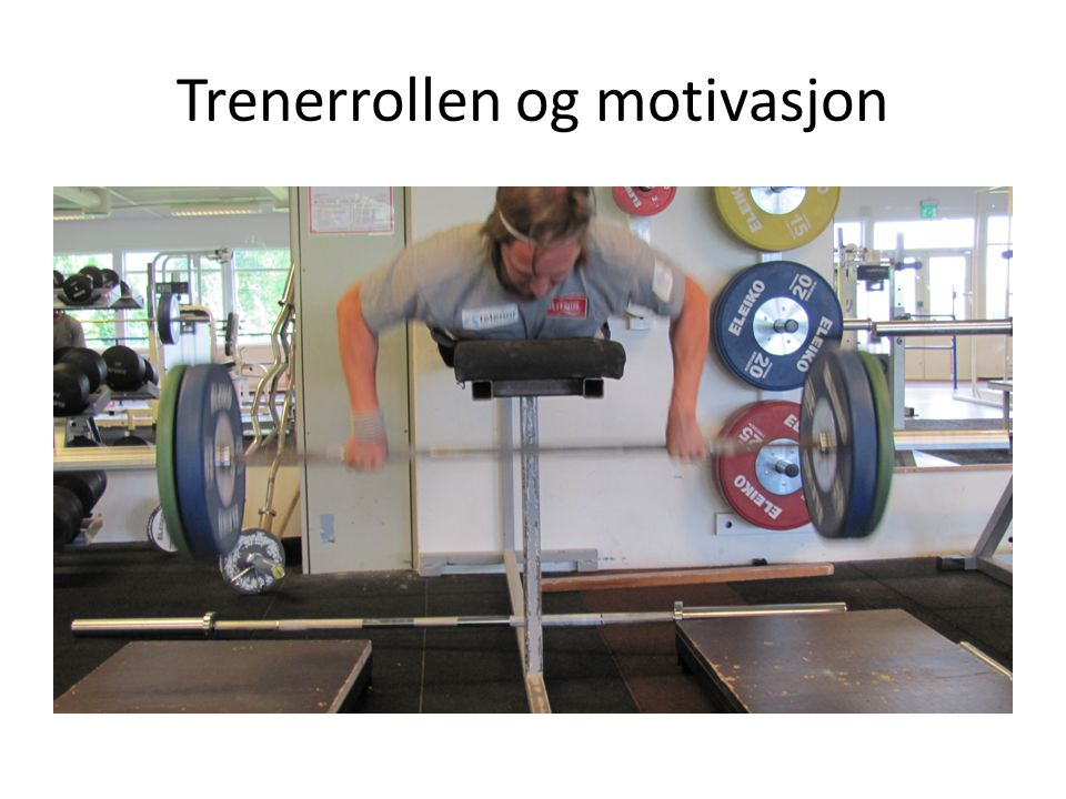 Trenerrollen og motivasjon