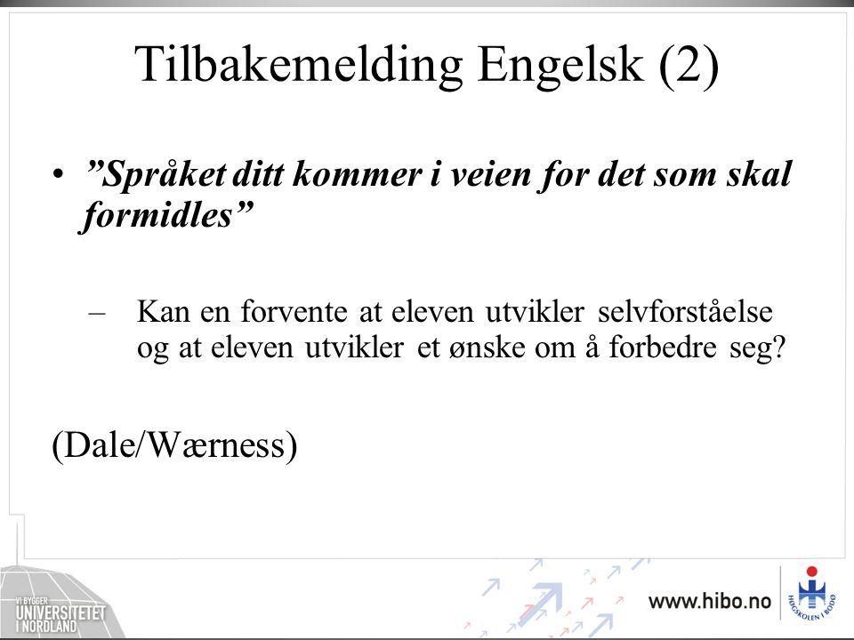 Tilbakemelding Engelsk (2)