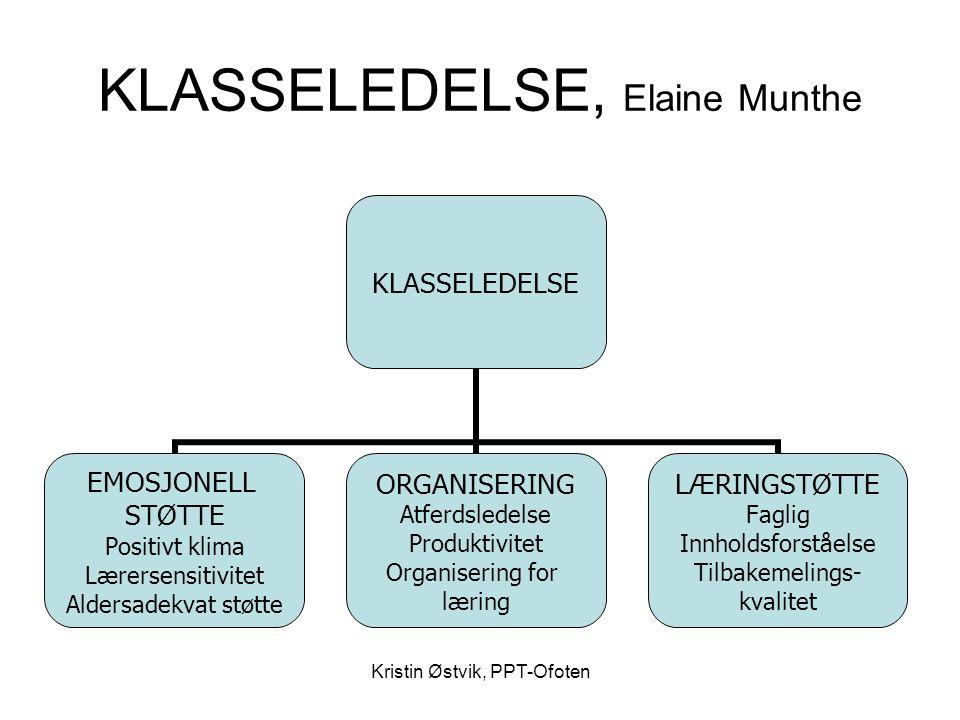 KLASSELEDELSE, Elaine Munthe