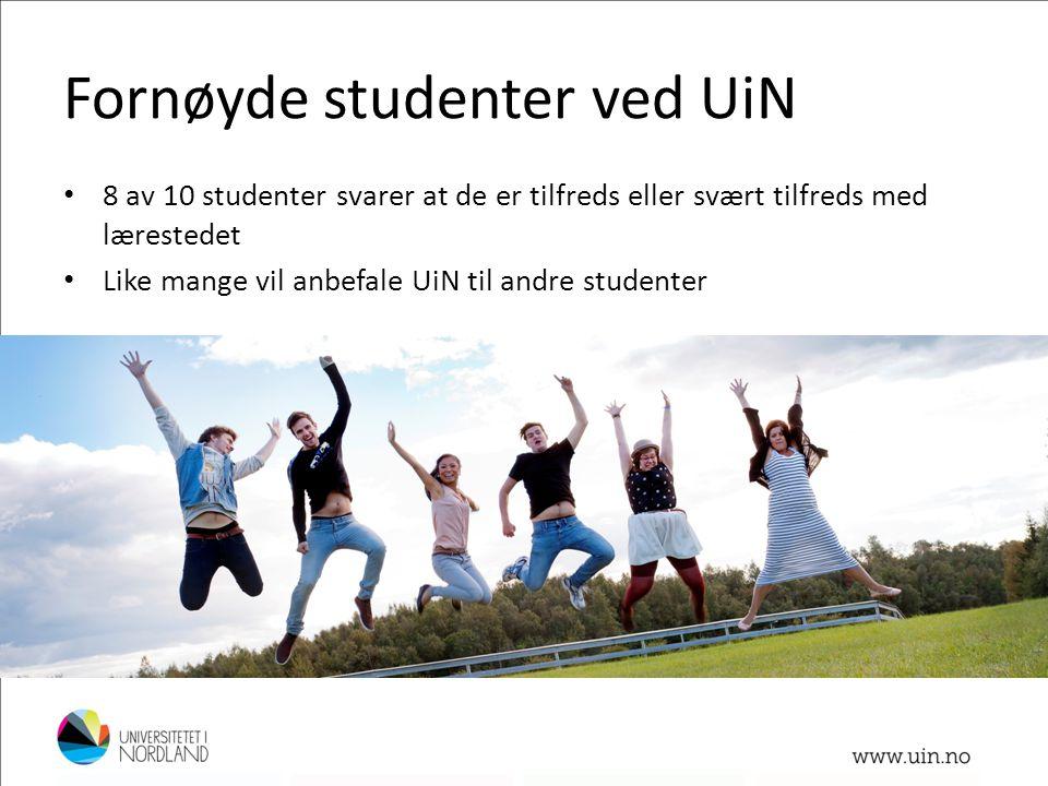 Fornøyde studenter ved UiN