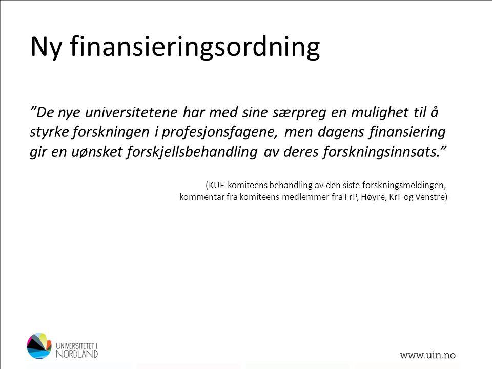 Ny finansieringsordning