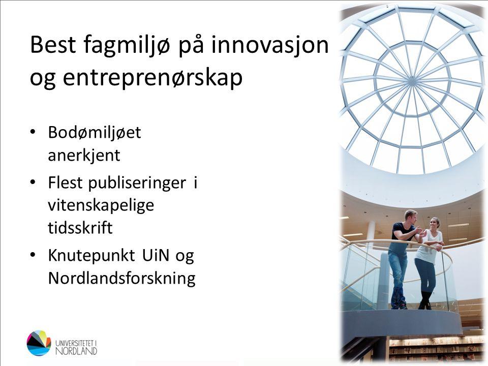 Best fagmiljø på innovasjon og entreprenørskap