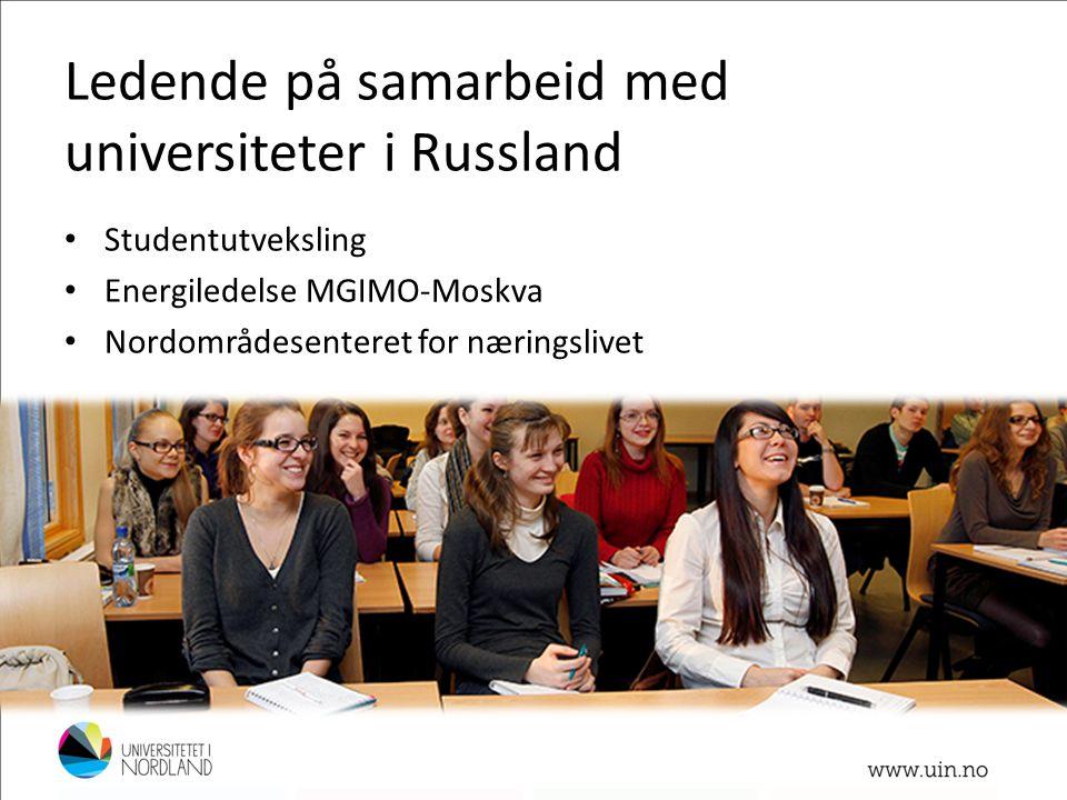 Ledende på samarbeid med universiteter i Russland