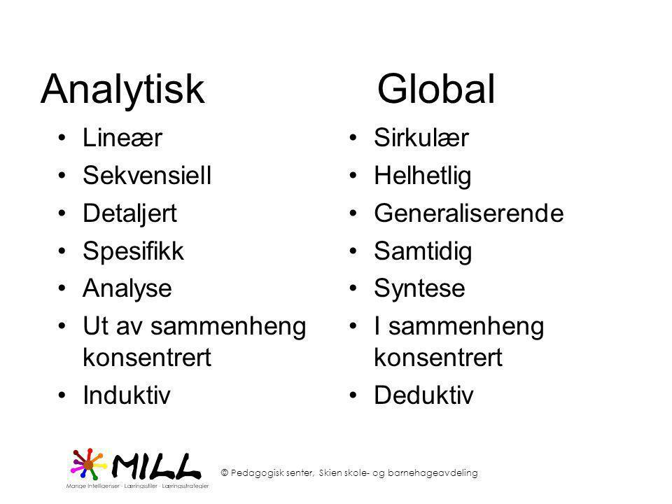 Analytisk Global Lineær Sekvensiell Detaljert Spesifikk Analyse