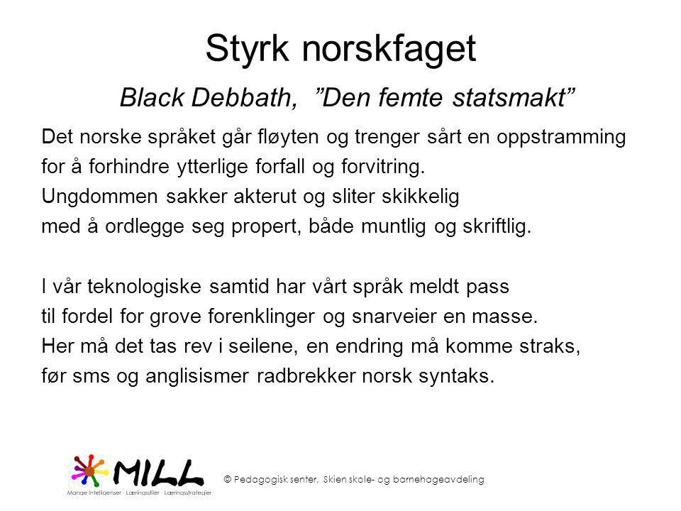 Styrk norskfaget Black Debbath, Den femte statsmakt