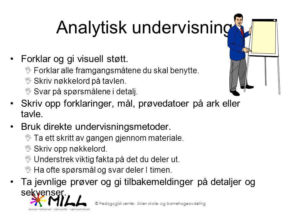 Analytisk undervisning