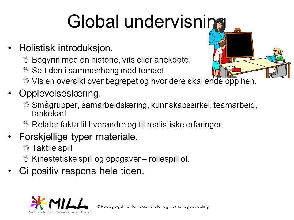 Global undervisning Holistisk introduksjon. Opplevelseslæring.