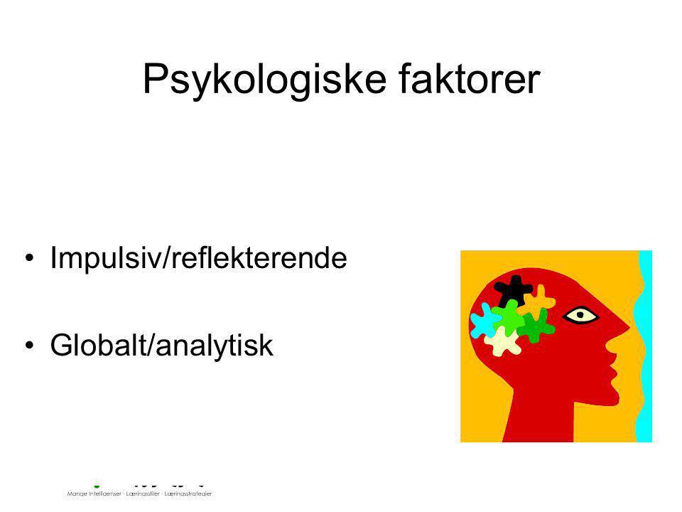 Psykologiske faktorer