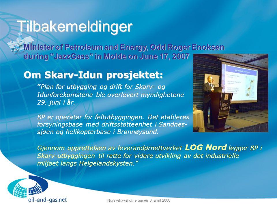 Norskehavskonferansen 3. april 2008