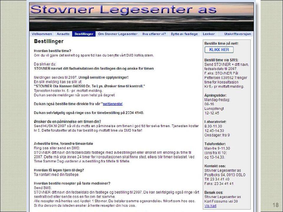TSD - Stovner Legesenter as