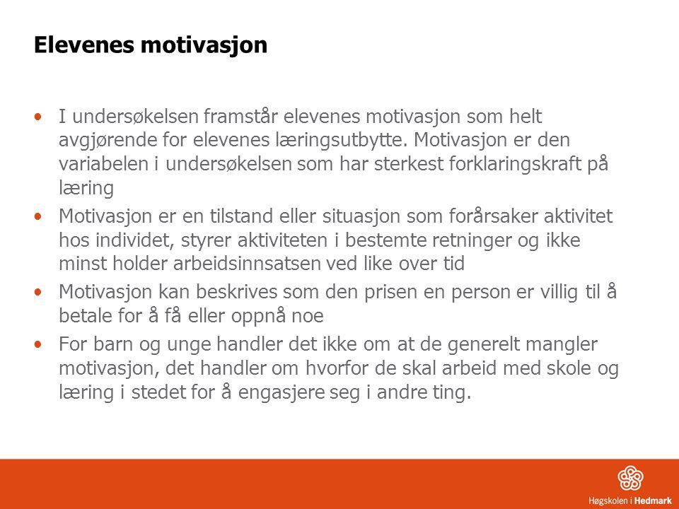 Elevenes motivasjon
