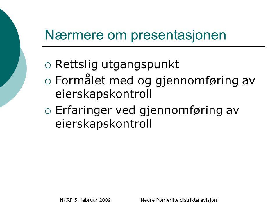 Nærmere om presentasjonen